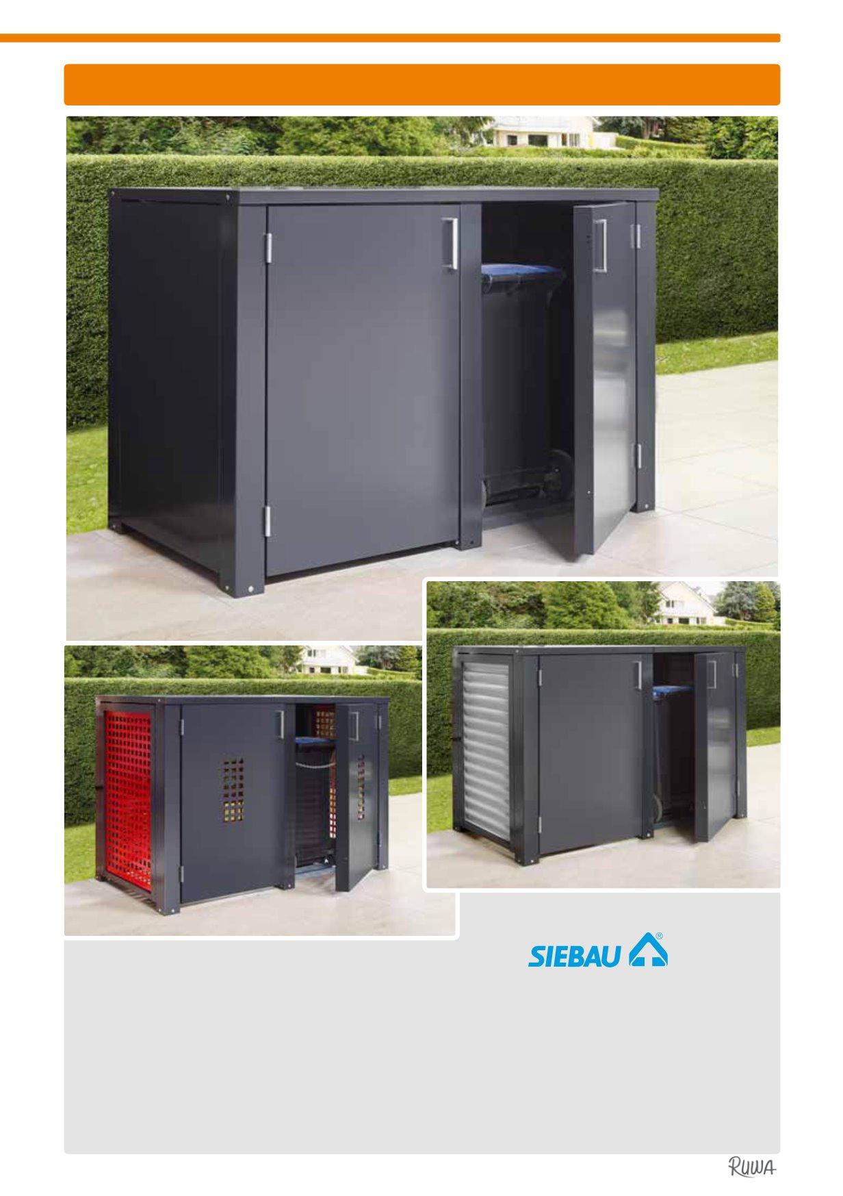 ruwa abfallbehälte, ascher & Überdachungen